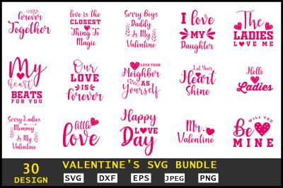 Valentine's SVG Bundle