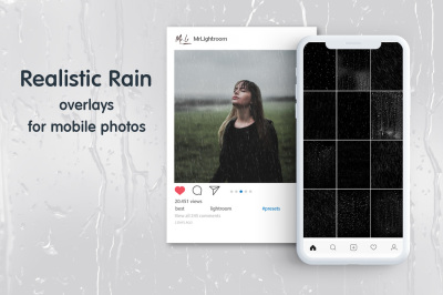 Rain Mobile Overlays