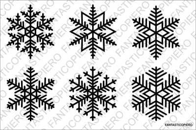 Snowflakes 3 SVG files