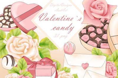 Valentine`s candy