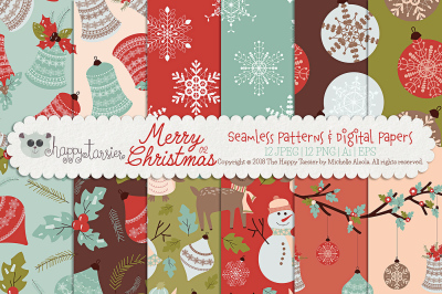 Christmas 02 Seamless Patterns & Digital Papers