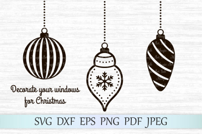 Christmas balls SVG, Christmas ornaments svg, Christmas svg, Clipart