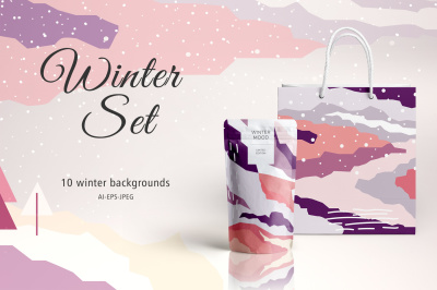 Winter Set Backgrounds