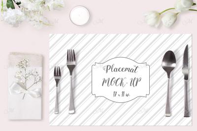 Wedding Placemat Mock-up. PSD Smart