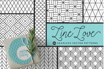 Line Love Seamless Patterns