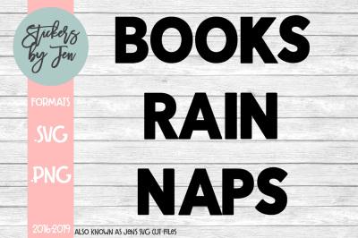 Books Rain Naps SVG Cut File