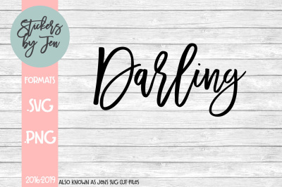 Darling SVG Cut File