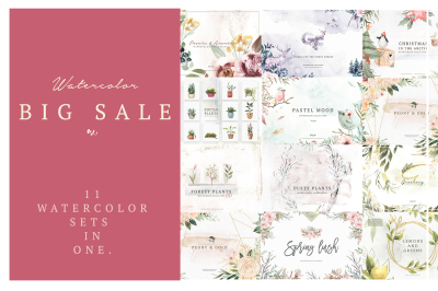 Watercolor Big Sale