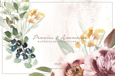 Elegant of Peonies and Anemones