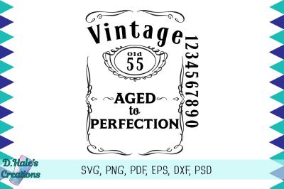 Vintage Aged to Perfection - SVG Bundle - Cricut Compatible