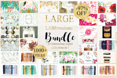 Watercolor Bundle LABFcreations
