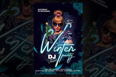 Winter Dj Party Flyer Templates