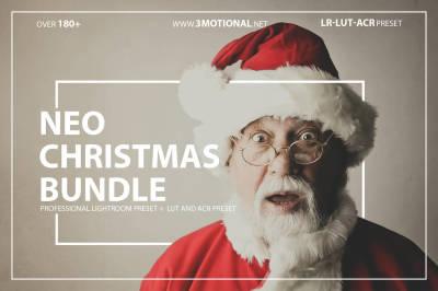 Neo Christmas Bundle Theme color Grading Lightroom presets