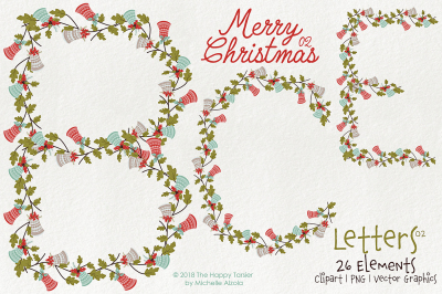 Christmas 02 Letters 02 - Vector and Clipart