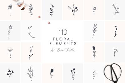 110 FLORAL ELEMENTS