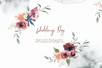 Watercolor wedding day