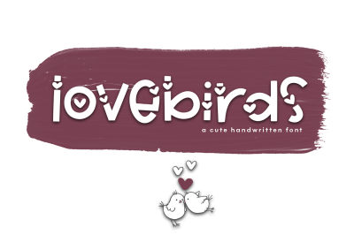 Lovebirds - A Cute Handwritten Font