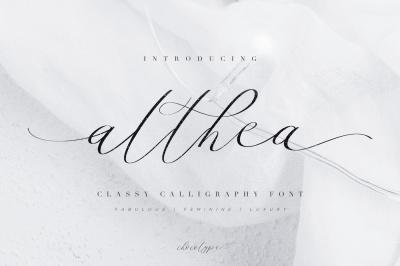 Althea Script | 99% DISCOUNT!