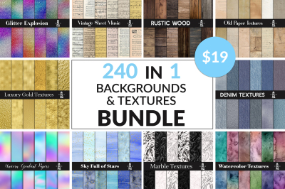 Huge Backgrounds & Textures Bundle