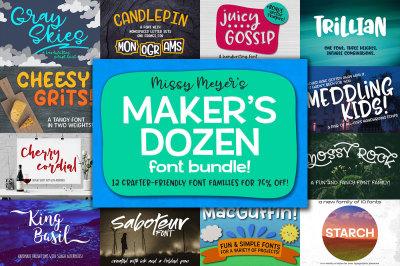 Missy Meyer's Maker's Dozen Font Bundle!