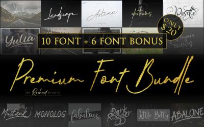 Premium Font Bundle 2018 || 10 Fonts Included & Bonus