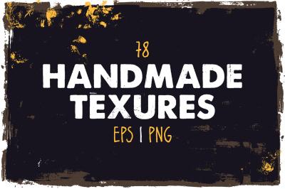 78 handmade vector textures