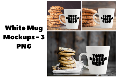 White Mug Mockup Bundle - Cookies White Mug Mockups - 3