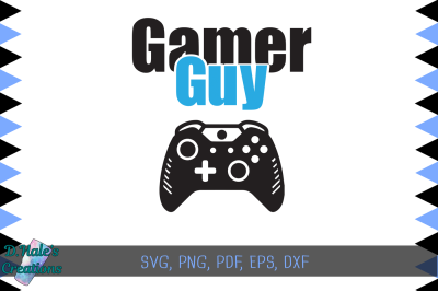 Gamer Guy - Xbox - SVG PSD EPS DXF PDF PNG