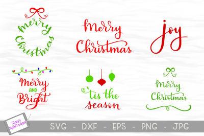 Christmas SVG bundle - Volume 1 - 6 SVG designs