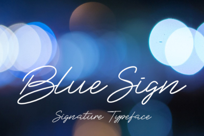 Blue Sign Typeface