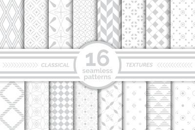 Classical seamless patterns. Big set