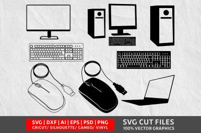 Computer SVG cut file