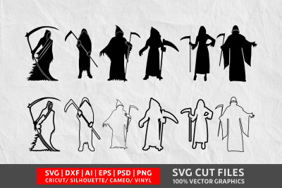 Grim Reaper SVG cut file