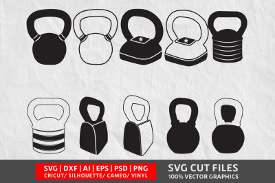 Kettlebell SVG cut file
