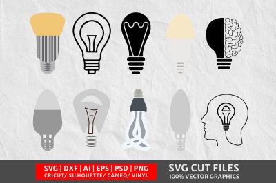 Light Bulb SVG cut file