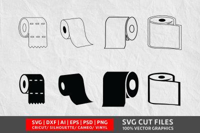Toilet paper SVG cut file