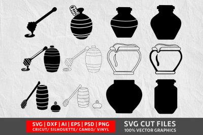 Wooden Honey Pot SVG cut file