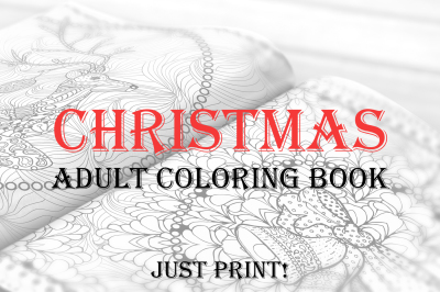 Christmas Adult Coloring Book PDF, EPS, JPEG