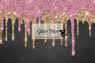 Glitter Drips Overlays