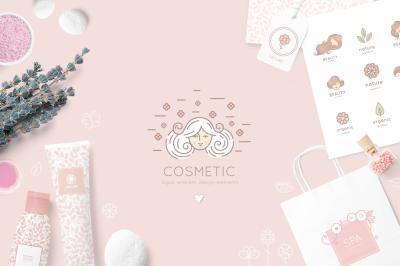 Cosmetics icon & logos