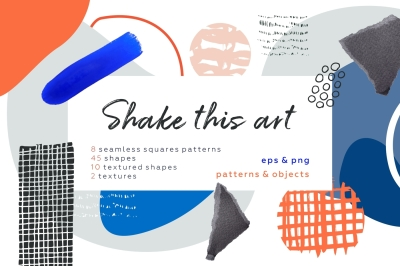Shake this art! Collage patterns & objects
