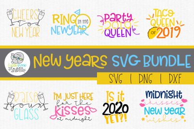 New Years| New Years Eve| Midnight Kisses|SVG Bundle