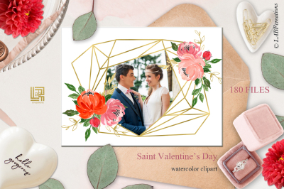 Saint Valentine's Day watercolor