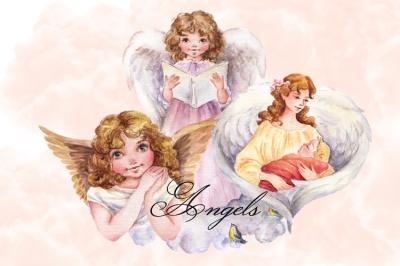 Angels, Guardian Angel,Cherubim Clipart Images