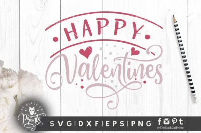 Happy Valentines SVG DXF EPS PNG