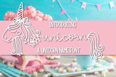 Unicorns - A Unicorn Name Maker Font