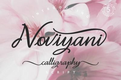 Noviyani script font