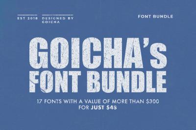 GOICHAs Font Bundle
