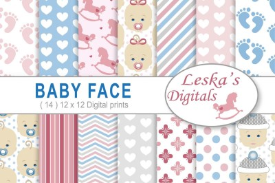 Babyface Digital Scrapbook Papers