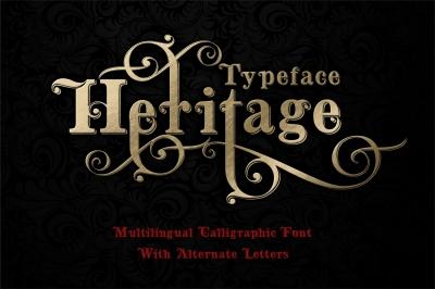 Heritage calligraphictypeface + bonus